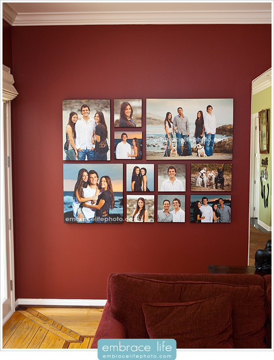 Custom Designed Canvas Portrait Collage